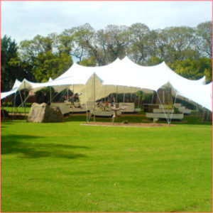 big white stretch tents
